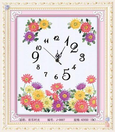 Virágos óra - szalaghímzés készlet